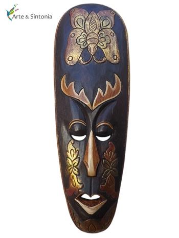 Mascara Lombok em madeira p/ decoração