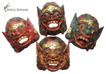 Mascaras barong p/ decoração de paredes