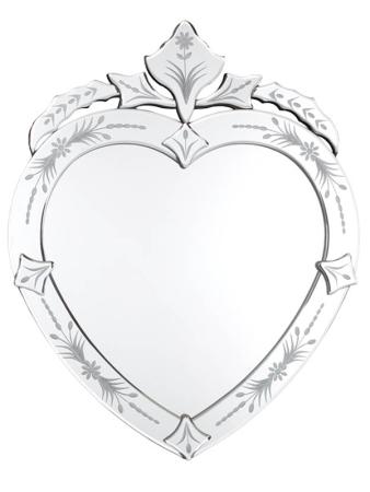 Espelho Veneziano em formato de Coração.