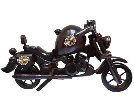 Moto Harley Davidson em Madeira para decoração