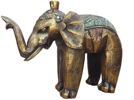 Elefante Indiano em madeira para decoração