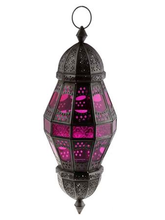 Lanterna Indiana para decoração 58x21cm