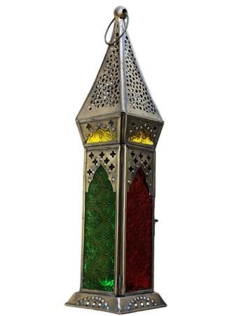 "Lanterna Marroquina ""Namastê"" 35cm - Multicolor"