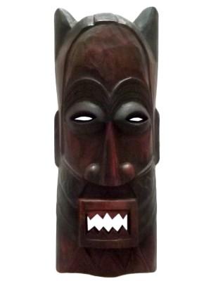 Mascara africana em madeira 50cm