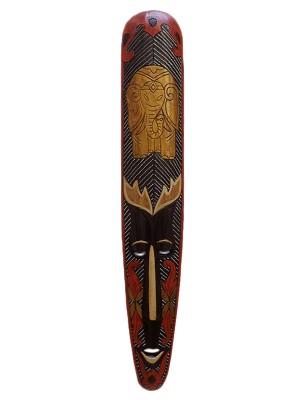 mascara decorativa em madeira