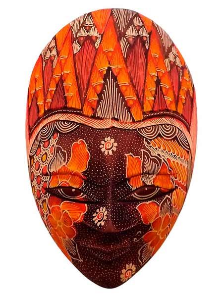 Máscara da Indonésia Batik