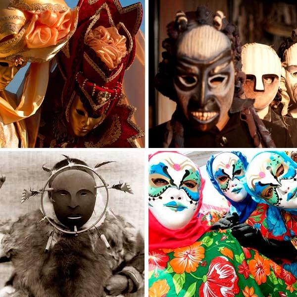 Máscaras pelo mundo