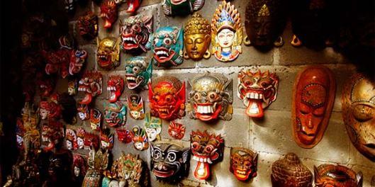 Máscaras de Bali em Madeira