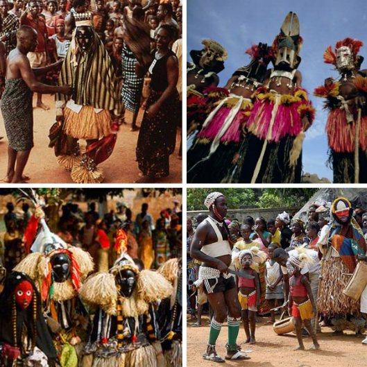 máscaras africanas rituais