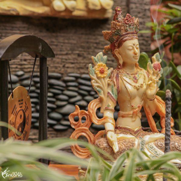 deusa-tara-tibetana-escultura-decoração-ambiente