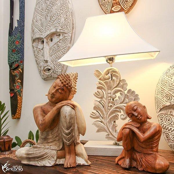 mascaras-decorativas-esculturas-iluminação-ambiente-equilíbrio