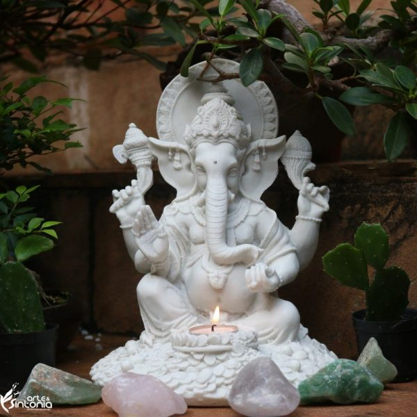 cultura-hindu-escultura-ganesha-porta-vela-divindade