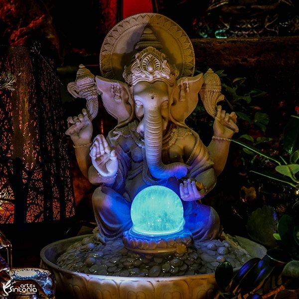 fonte-água-luminosa-equilíbrio-ganesha-energético