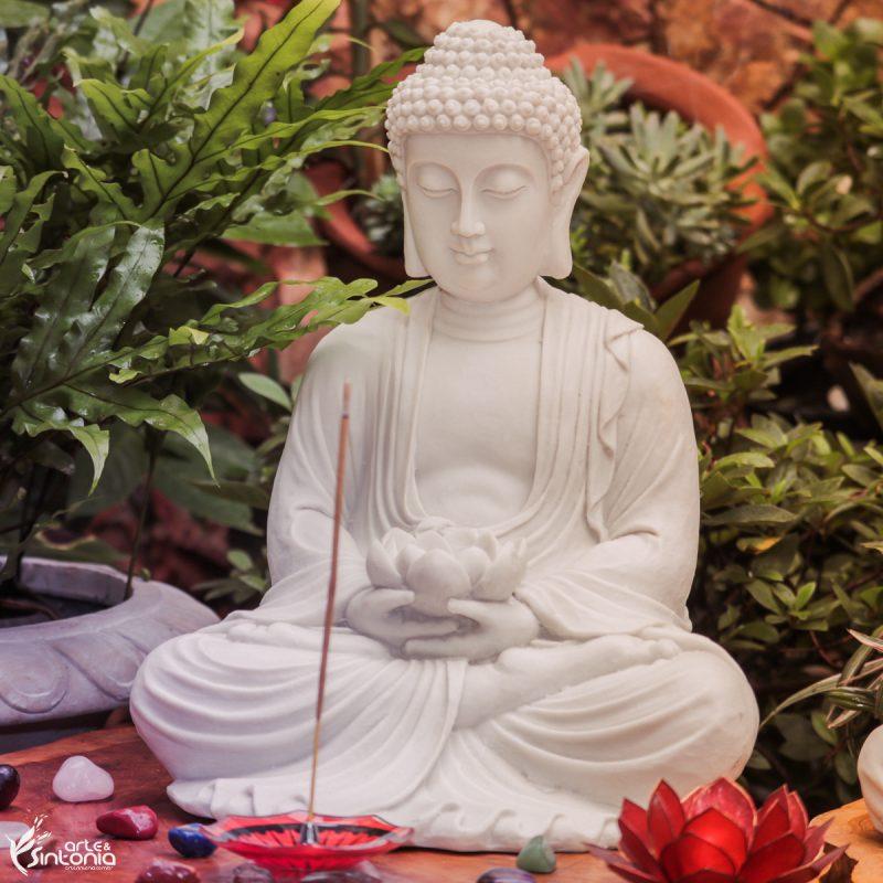 altar-budista-incenso-indiano-incensário-escultura-buddha