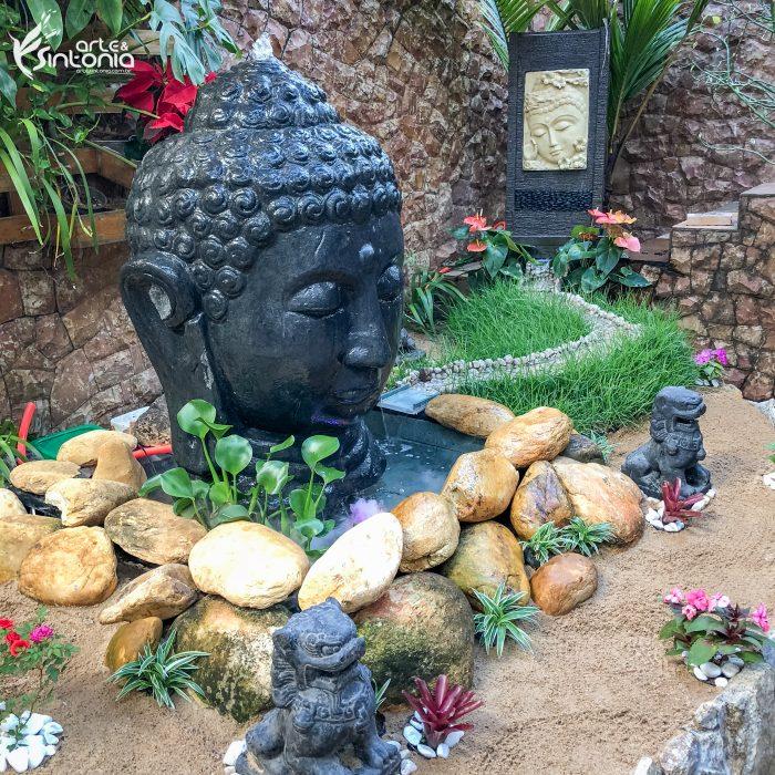 decoração-zen-budista-fonte-buddha-leões-fu