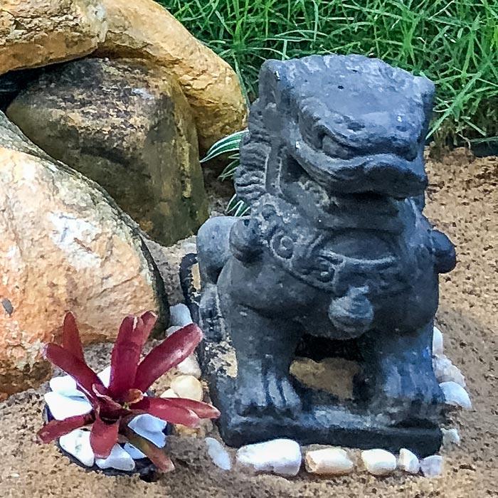 decoração-jardim-escultura-leão-fu-budista-cimento