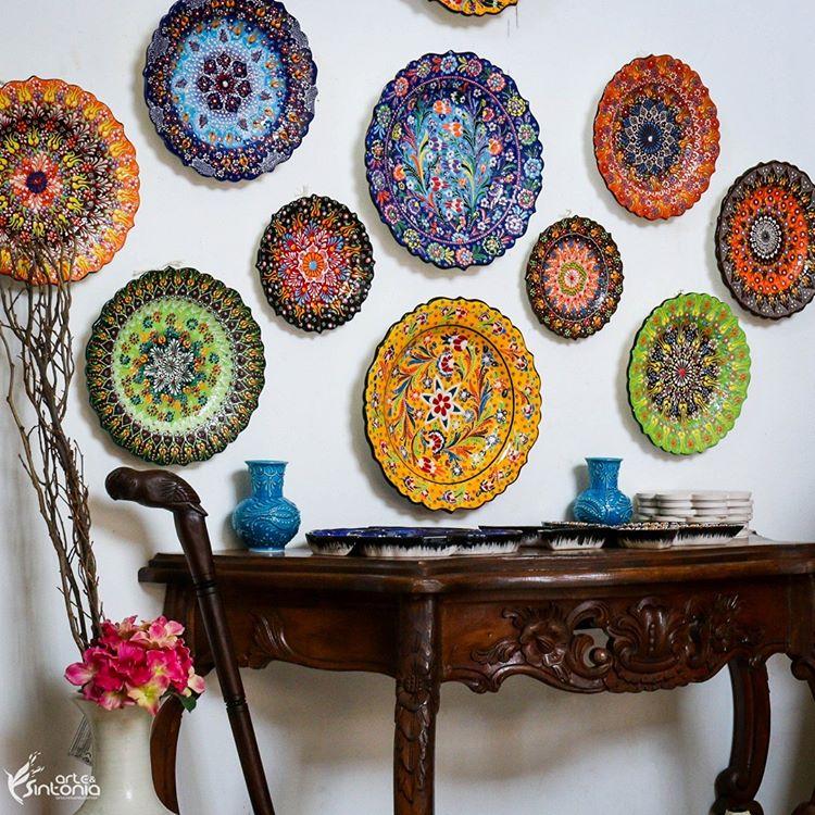 pratos-ceramica-turca-colorida-decoração-parede