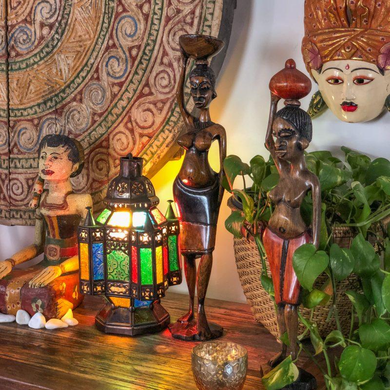 escultura-decorativa-mulher-africana-madeira