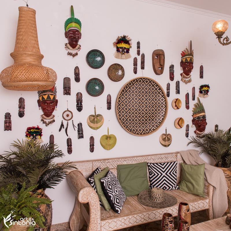 decoracao-parede-etnica-artefatos-indigenas-rituais