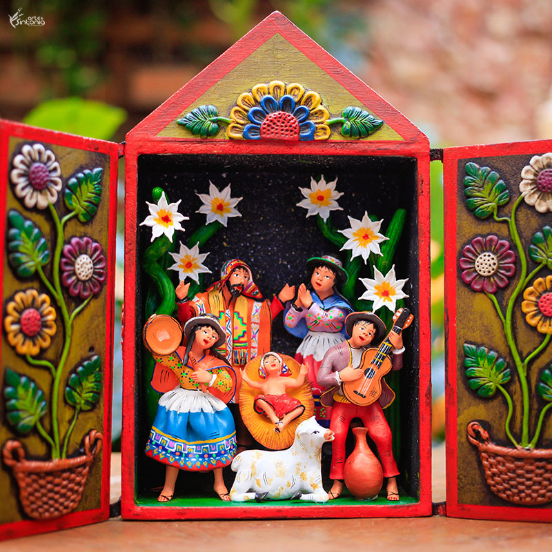 oratorio-madeira-presepio-natalino-artesanato-peruano-decoracao