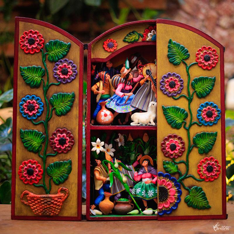 caixa-decorativa-retablo-peruano-festa-ayacucho-peru