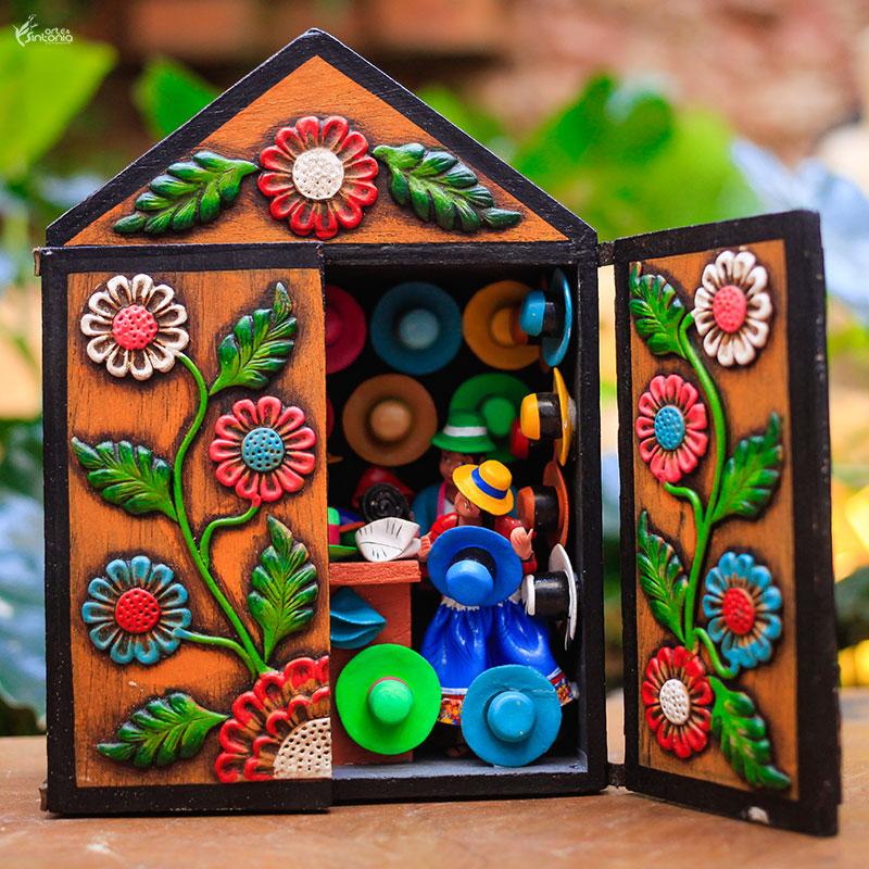artesanato-peruano-decoracao-caixa-madeira-retabulo-loja-sombrero