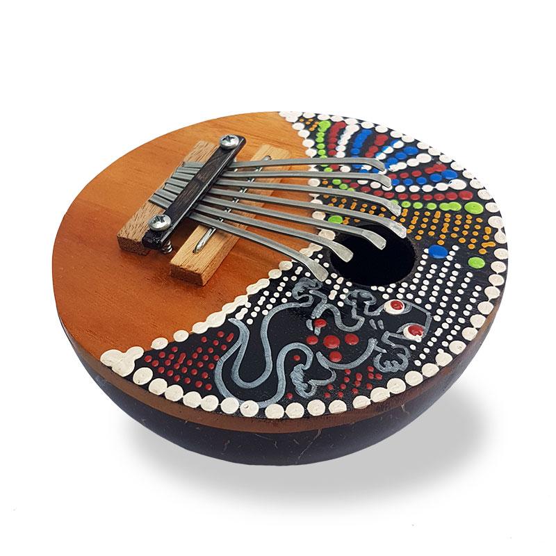 instrumento-percussao-artesanal-carimba-pintura-colorida-gecko-bali