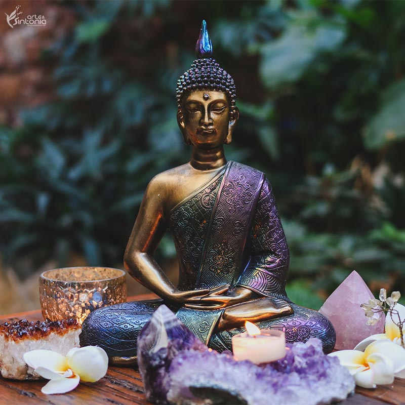arte-resina-metalizada-furta-cor-buda-meditando